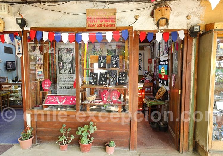 Boutique de bijoux mapuches