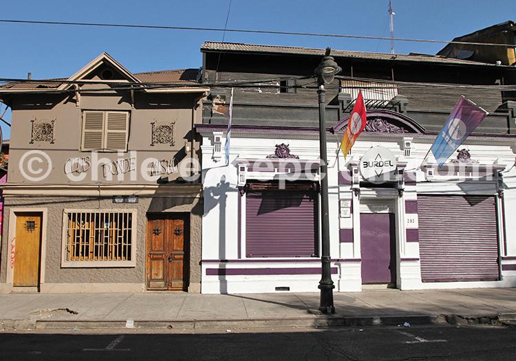 Vue du quartier de Bellavista, Santiago de Chile