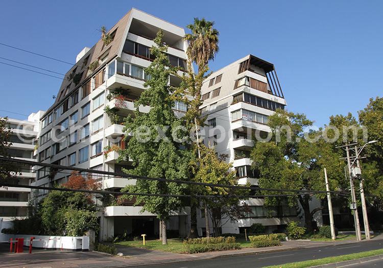 Quartier résidentiel, Vitacura, Santiago de Chile
