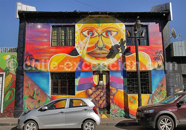 Bellavista, quartier de la capitale du Chili