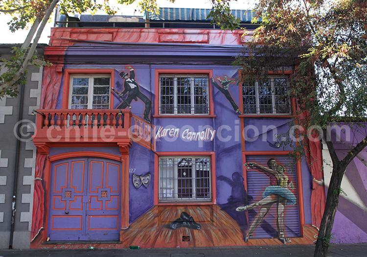 Les maisons colorées de Bellavista, Santiago de Chile