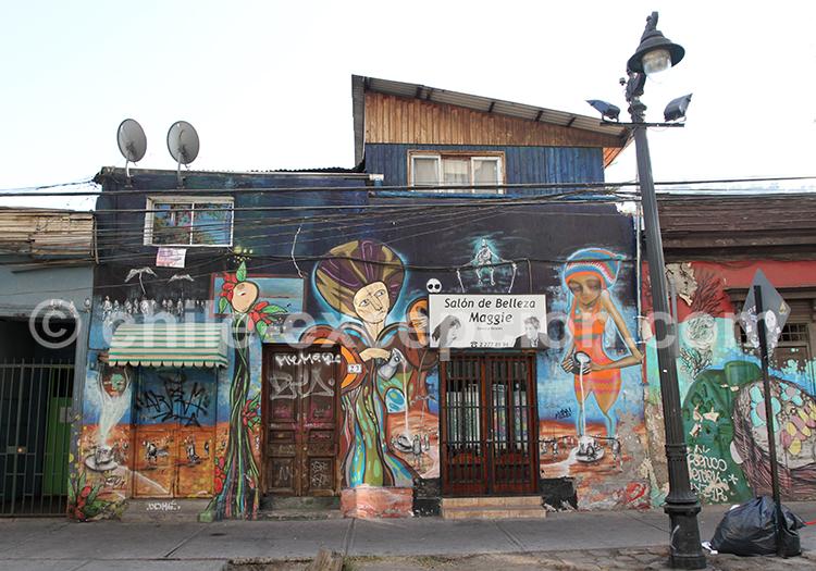 Art de rue, Bellavista, Santiago de Chile