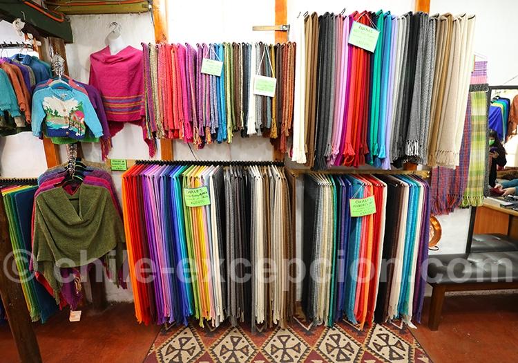 Châles et ruanas en laine d'alpaga