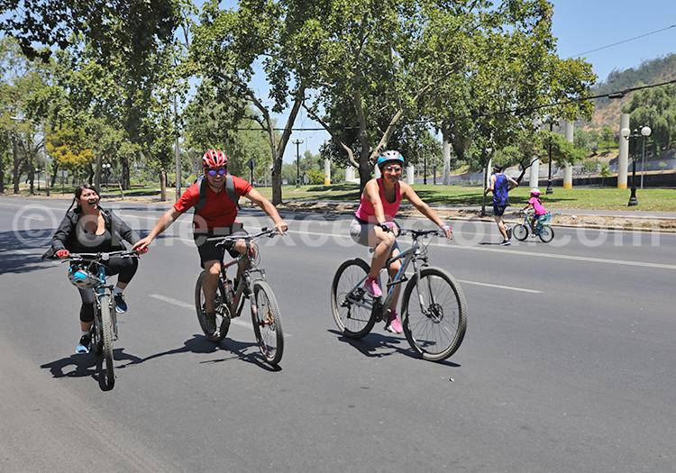 Faire du vélo à Santiago de Chile