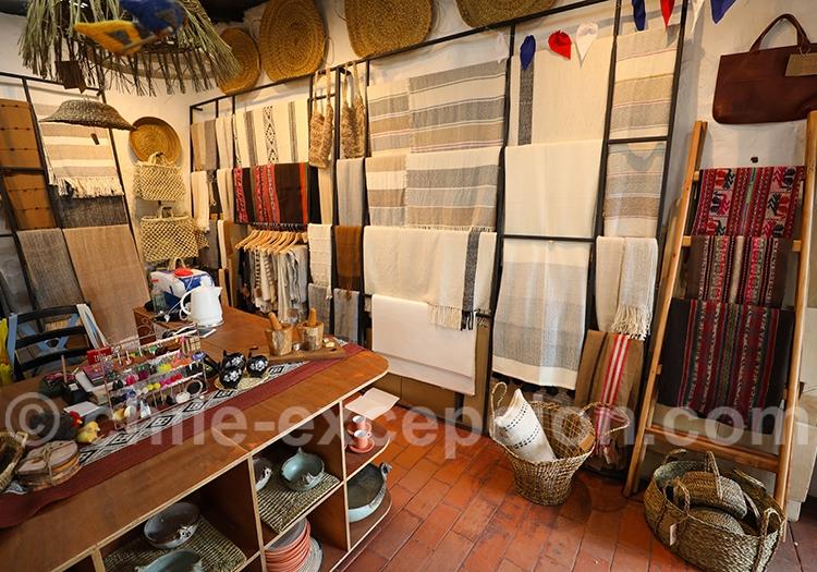 Boutique d'artisanat du Chili