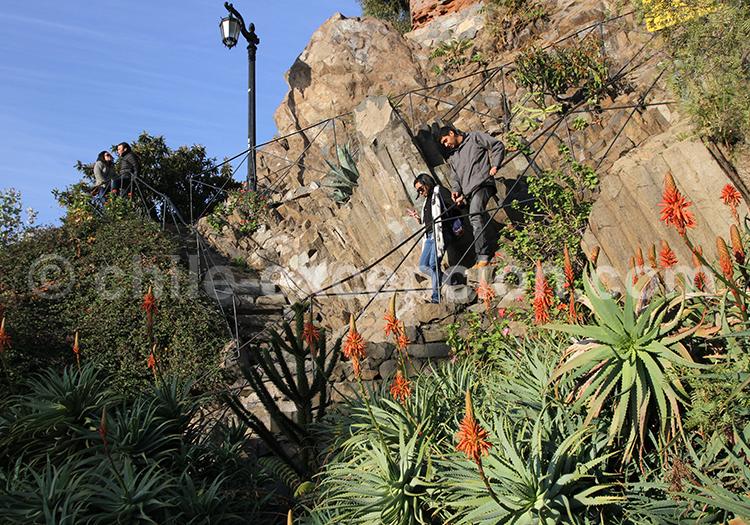 Visite du Cerro Santa Lucia, Santiago de Chile