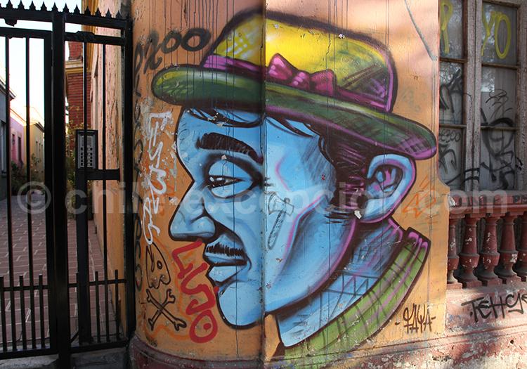 Artistes de rue à Santiago du Chili