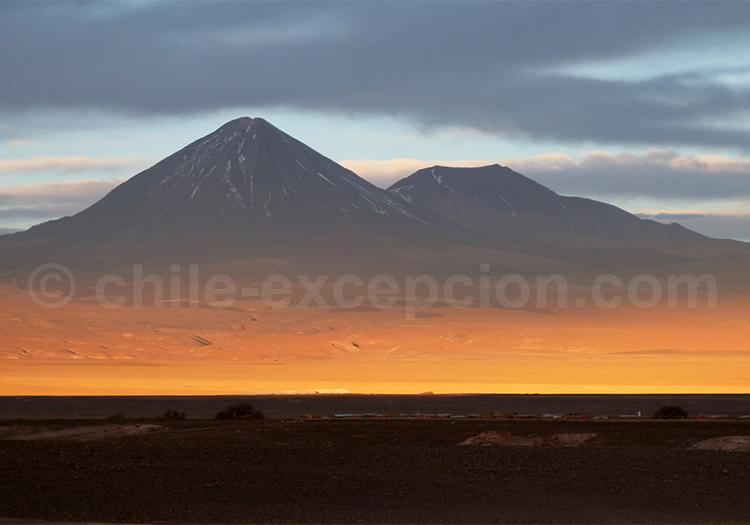 Coucher de soleil, voyage au Chili