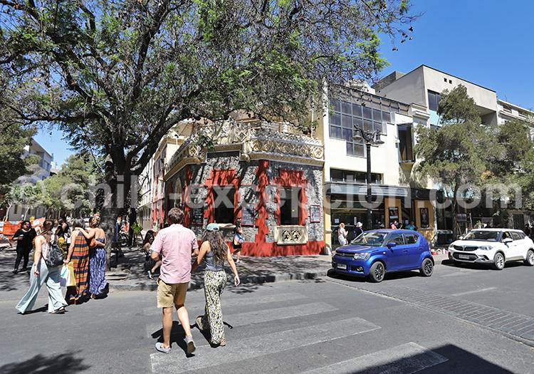 Restaurant dans le quartier Lastarria, Santiago de Chile