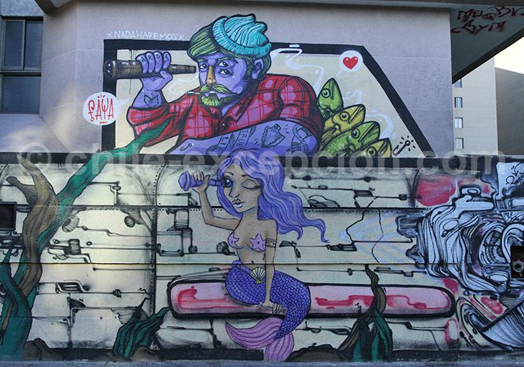 Peinture de Faya dans le Barrio Bellavista