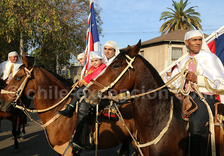 Procession religieuse, Chili