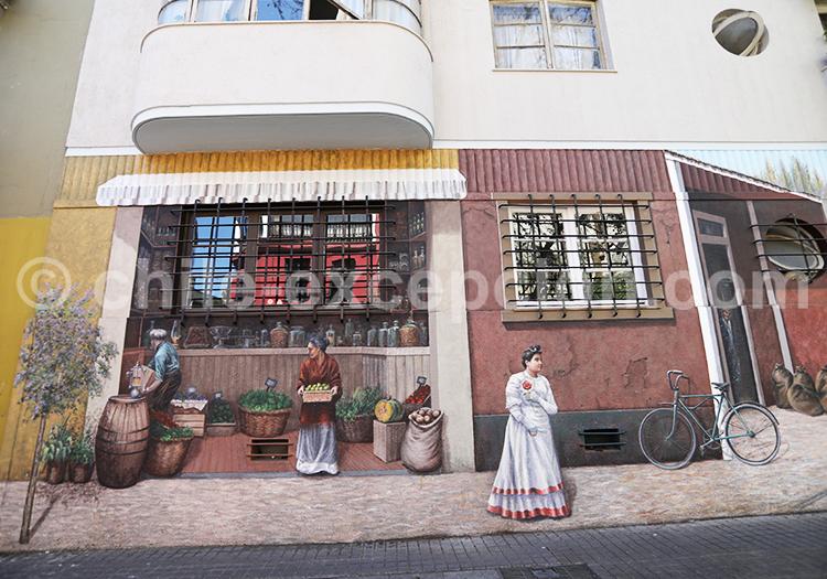 Street Art, Quartier Lastarria, Santiago de Chile