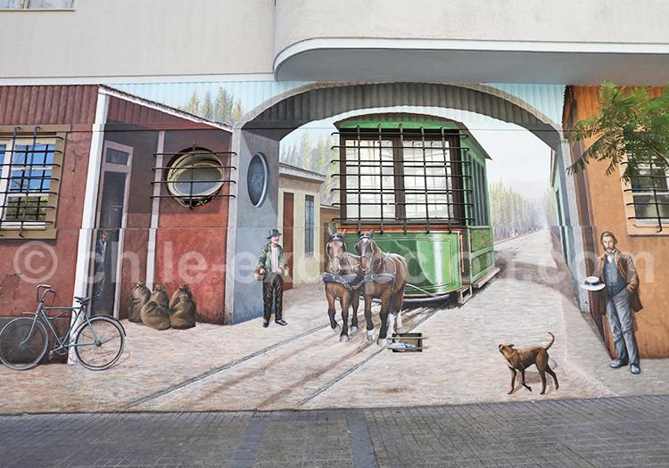 Art de rue, Quartier Lastarria, Santiago de Chile