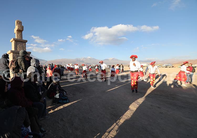Procession religieuse, Ayquina, Chili