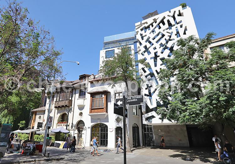 Restaurants et hôtels, Quartier Lastarria, Santiago