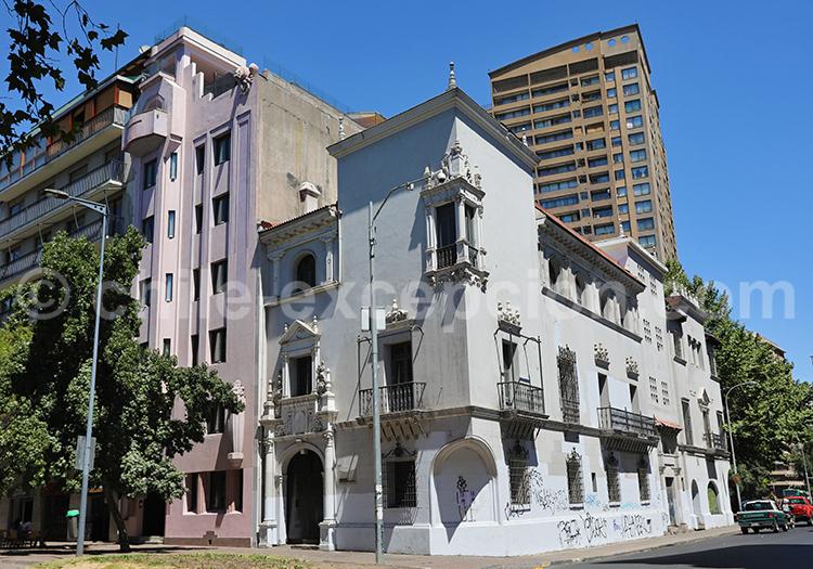 Quartier Lastarria, centre de Santiago de Chile