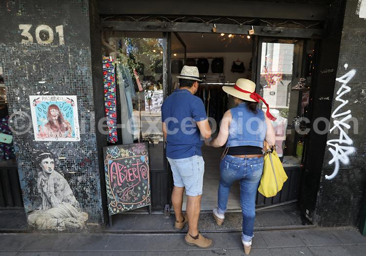 Shopping à Quartier Lastarria, Santiago de Chile