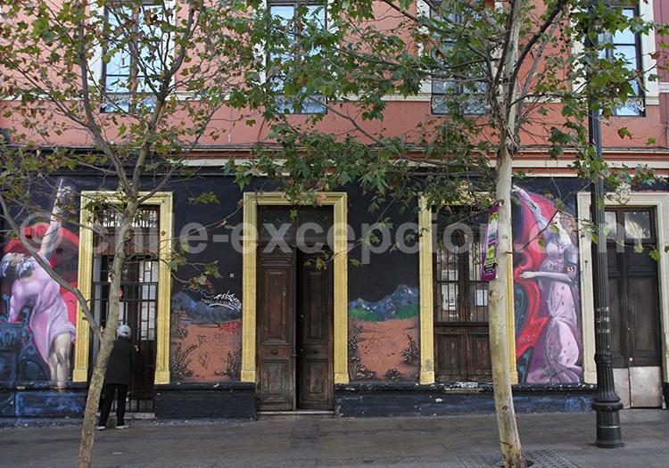Fresque de rue au Chili