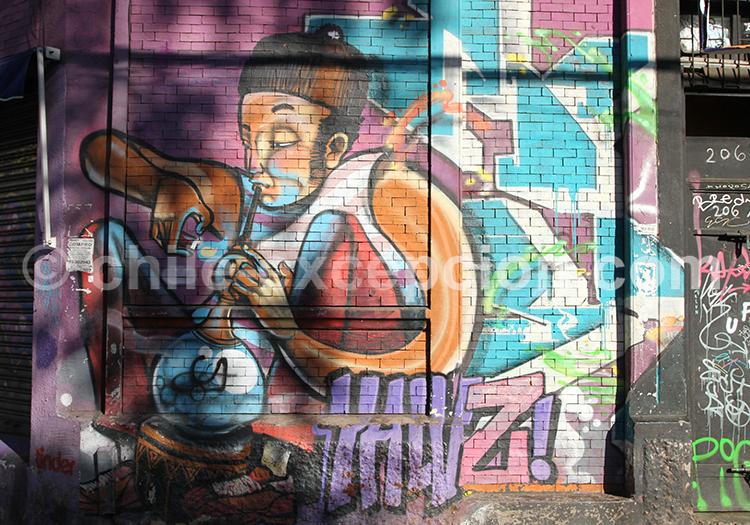Graffitis au Chili