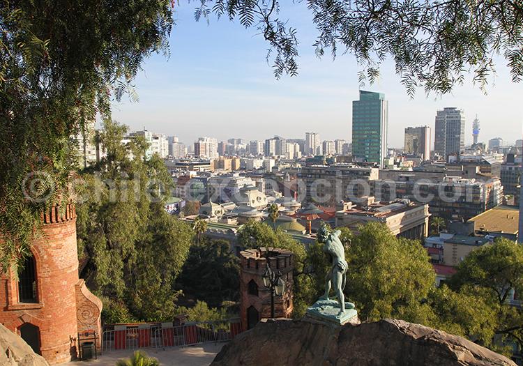 Cerro Santa Lucia, lieu touristique de Santiago de Chile