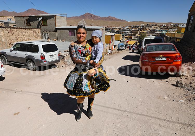 Peuple du village Ayquina, Chili