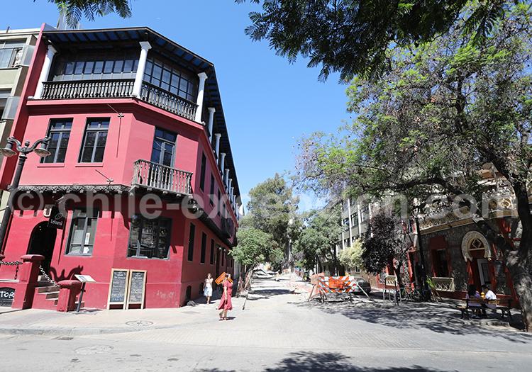 Lastarria,quartier moderne de Santiago de Chile
