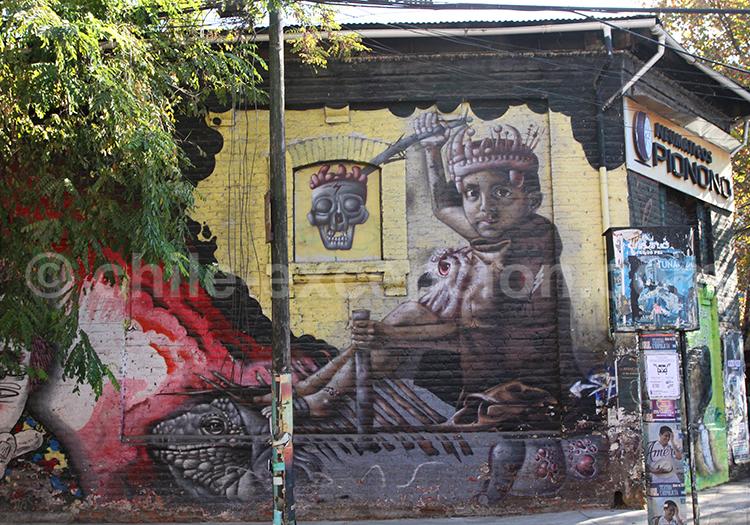 Artistes de rue au Chili