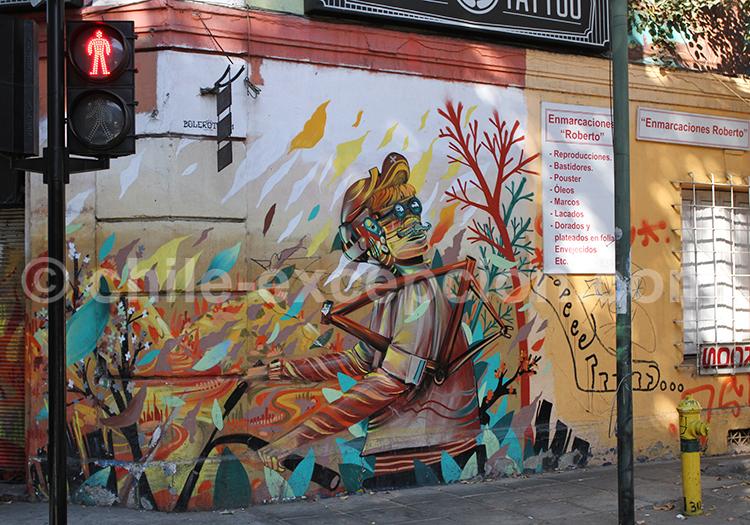 Oeuvre d'art, rue de Bellavista