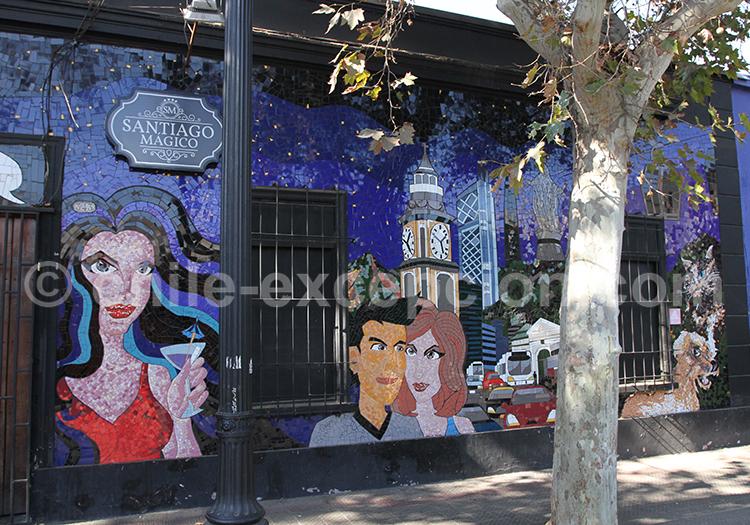 Mosaïque murale, Paula Guerra, Chile