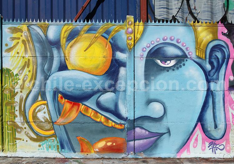 Galerie d'art mural à Santiago