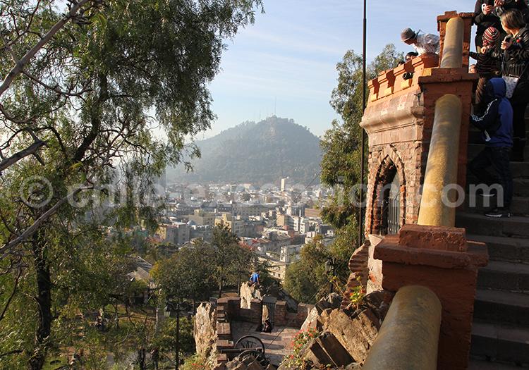 Cerro Santa Lucia, quartier historique de Santiago de Chile