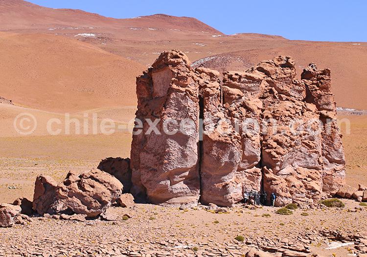 Formations rocheuses, Monjes de la Pacana, Chili