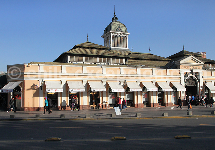 Marché Central, quartier historique de Santiago de Chile