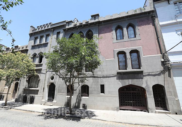 Maison originale du quartier Yungay, Santiago