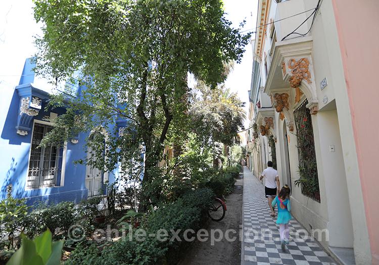 Quartier fleuri de Santiago, le quartier Yungay