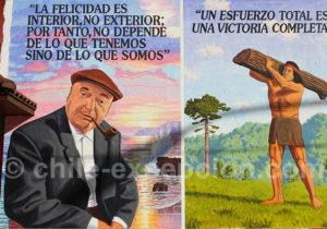 Pablo Neruda, cacique mapuche, Quartier Yungay
