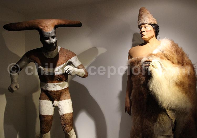Selknam, Musée d'Histoire Naturelle, Santiago de Chile