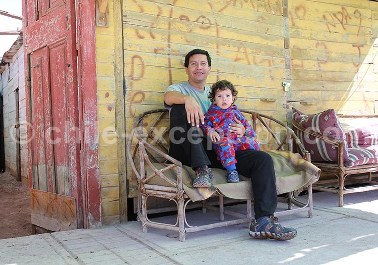 Scène de famille, quartier d'Iquique