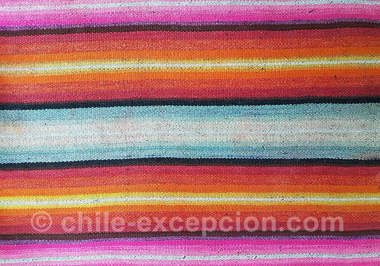 Tissus colorés du Chili