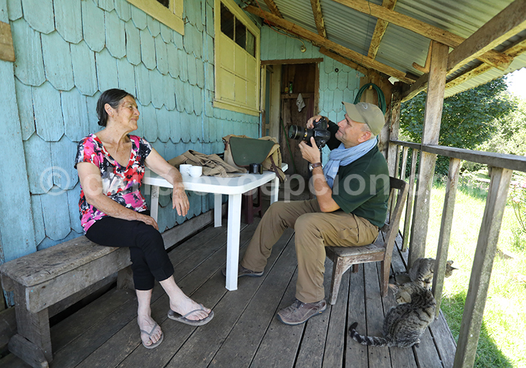 Interview avec des locaux, Sud du Chili