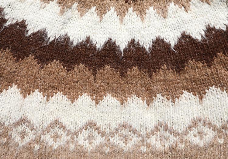 Tissu en laine du Chili, pull en trico avec l'agence de voyage Chile Excepción