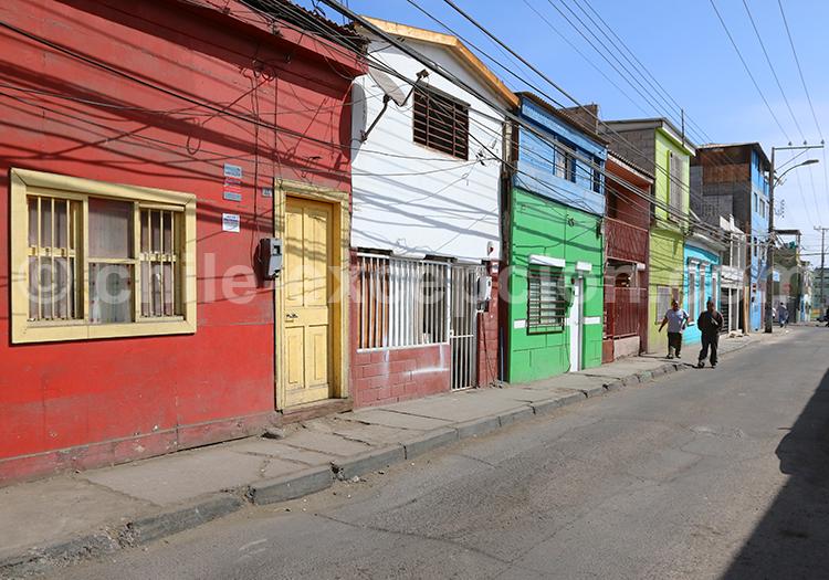 Rue ensoleillée d'Iquique