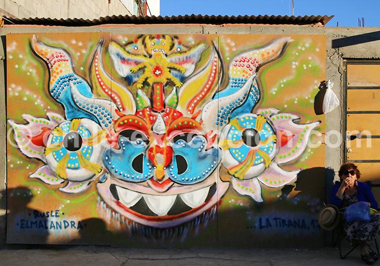 Graffiti la Tirana, Iquique