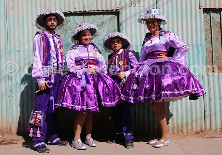 Journée costumée dans l'Altiplano, Chili