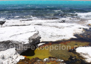 Le sel de la laguna Verde, parc Nevado Tres Curces