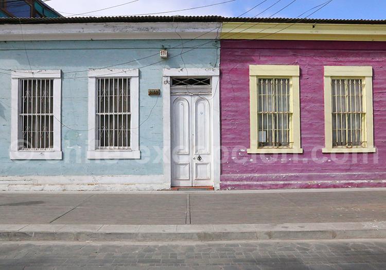 Maisons des rues de la région de Tarapacá