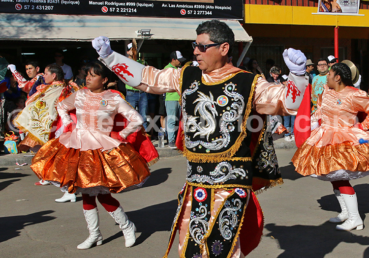 Danseurs de la Fiesta de la Tirana, 16 juillet