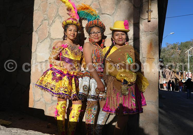 Groupe de danseuses chiliennes