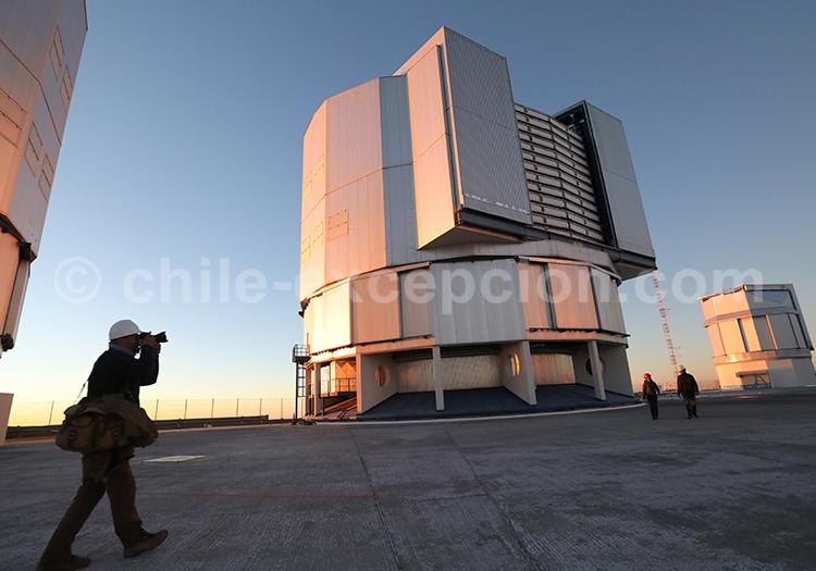 Photographie centre astronomique, désert du Nord du Chili