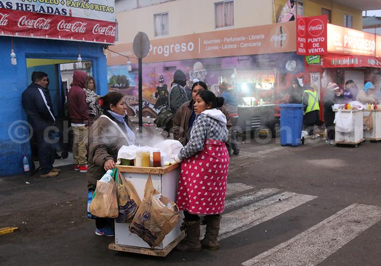 Stand de rue, Iquique